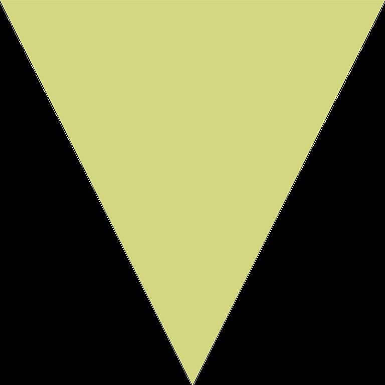 背面:黄緑色の三角
